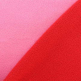 Reversible bicolor polar fabric - pink/red x 10cm