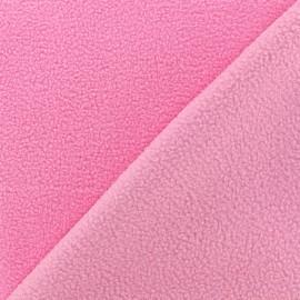 Tissu polaire réversible bicolore - rose clair/rose x 10cm