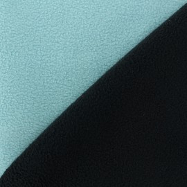 Reversible bicolor polar fabric - black/sky blue x 10cm