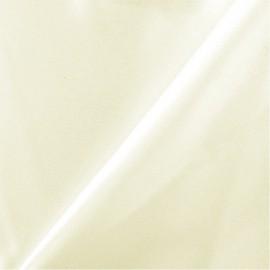 Tissu Satin lourd Mariée - crème x 10cm