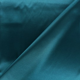 Tissu doublure Duchesse - paon x 10cm