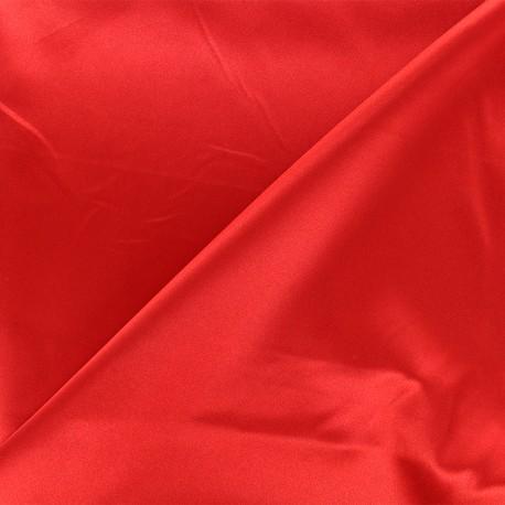 Tissu doublure Duchesse - rouge x 10cm