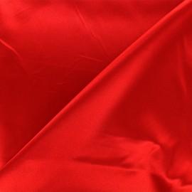 Tissu doublure Duchesse - rouge carmin x 10cm