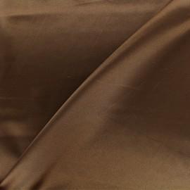 Tissu doublure Duchesse - brun x 10cm