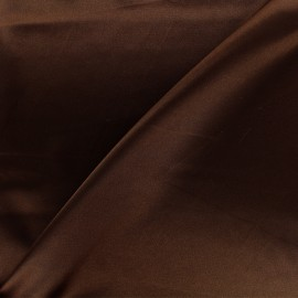 Tissu doublure Duchesse - chocolat x 10cm
