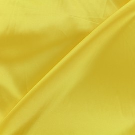 Tissu doublure Duchesse - jaune x 10cm
