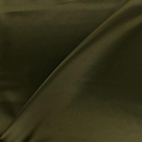 Tissu doublure Duchesse - vert olive foncé x 10cm