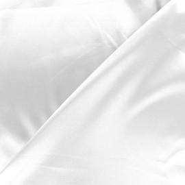 Tissu doublure Duchesse - blanc x 10cm