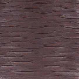 Tissu Simili cuir plissé prune x 10cm