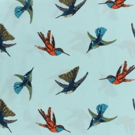 Tissu Microfibre oiseaux x 10cm