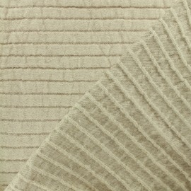 ♥ Coupon 55 cm X 130 cm ♥ Tex Seralino linen canvas Fabric - linen