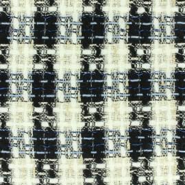 Tissu Tweed Lurex bleu x 10cm