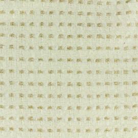 Tissu Tweed doré x 10cm