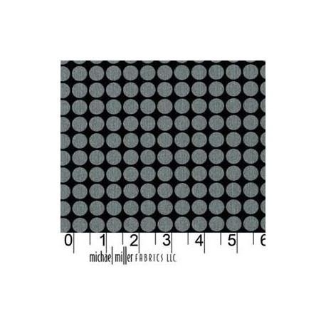 Tissu Mirror Ball Dot Onyx