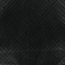 Tissu Simili cuir cousu sur tulle x 10cm