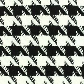 Tissu Lainage pied de coq x 10cm