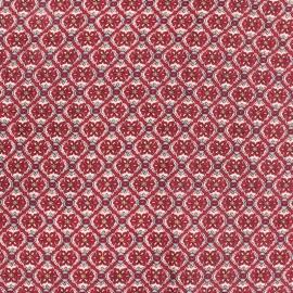 Tissu Viscose rosace rose x 10cm