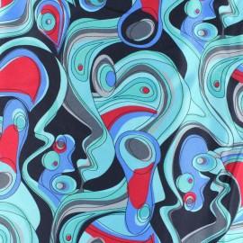 Tissu Soie turquoise x 10cm