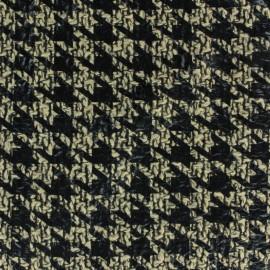 Tissu Lainage floqué pied de coq x 10cm