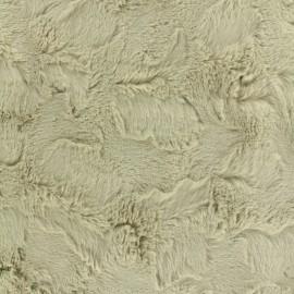 Tissu Fourrure beige x 10cm