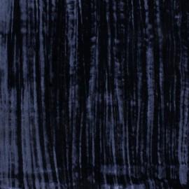 Tissu Velours souple marine x 10cm