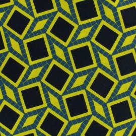 Tissu Crêpe graphique anis x 10cm