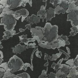 Tissu Jacquard gris x 10cm