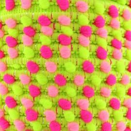 Lurex pompom braid trimming 11 mm - Fluo x 1m