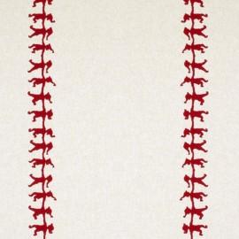 Cotton canvas linen look fabric - Christmas elf x 20cm