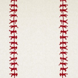 Tissu toile coton aspect lin - Christmas elf x 20cm