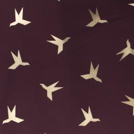Tissu Nanotex oiseau x 10cm