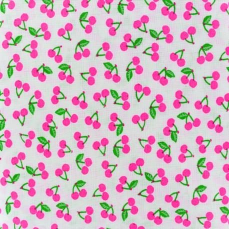 Rico design cotton fabric Cherries - neonpink x 10cm