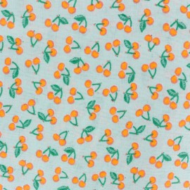 Rico design cotton fabric Cherries - neon orange x 10cm