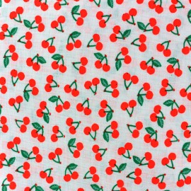 Rico design cotton fabric Cherries - neon red x 10cm