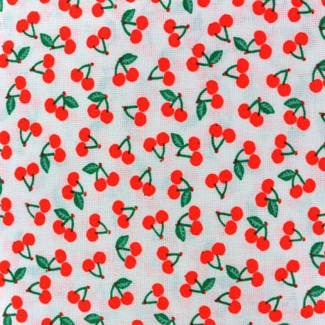 Rico design cotton fabric Cherries - neon red x 10cm