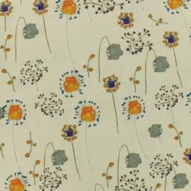 Tissu Polyester fleurs des champs x 10cm