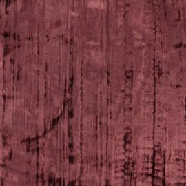 Tissu Velours souple vin x 10cm