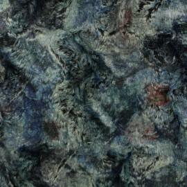 Tissu Fourrure encre x 10cm