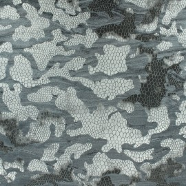 Gray Flocked Velvet Fabric x 10cm