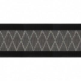 Flat elastic Diamond 50 mm - silver x 50cm
