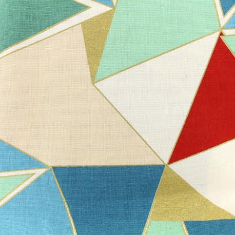 Bachette cotton fabric Lalique - green/red x 30cm