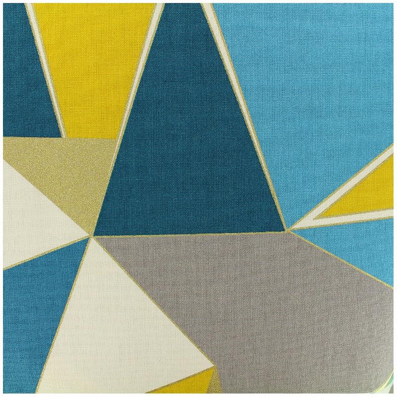tissu coton bachette lalique bleu jaune x 30cm ma petite mercerie. Black Bedroom Furniture Sets. Home Design Ideas