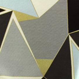 Tissu coton bachette Lalique - gris x 30cm
