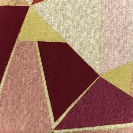 Linen canvas fabric Lalique - pink x 30cm