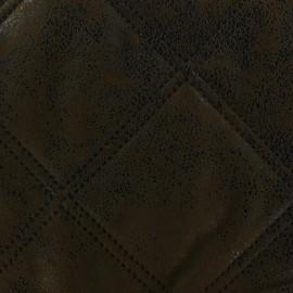 Tissu matelassé Antic marron foncé x 10cm