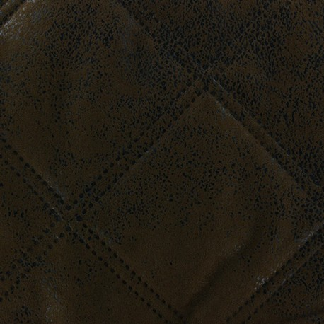 Quilted fabric Antic - dark brown x 10cm