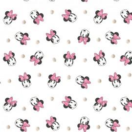 Tissu coton Camelot fabrics Minnie Mouse - face dots x 10cm