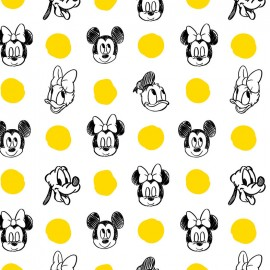Tissu coton Camelot fabrics Mickey Mouse and friends x 10cm