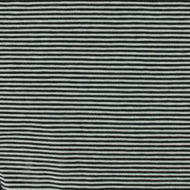 Tissu Jersey mini rayures - noir/blanc x 10cm