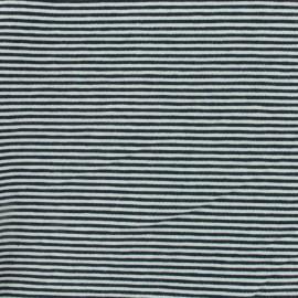 Tissu Jersey mini rayures - bleu/blanc x 10cm
